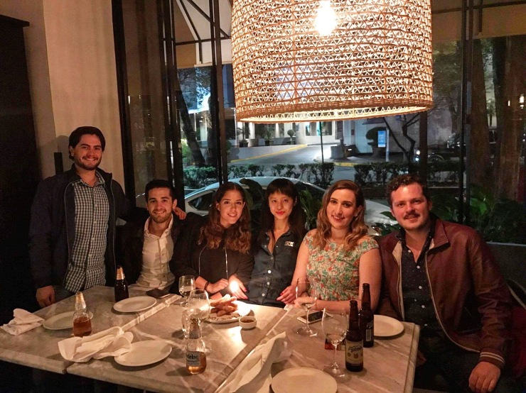 Birthday dinner with friends in Mexico